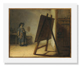 MFA Prints archival replica print of Rembrandt Harmensz. van Rijn, Artist in His Studio from the Museum of Fine Arts, Boston collection.
