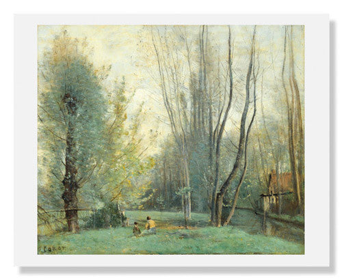 MFA Prints archival replica print of Jean Baptiste Camille Corot, Morning near Beauvais from the Museum of Fine Arts, Boston collection.