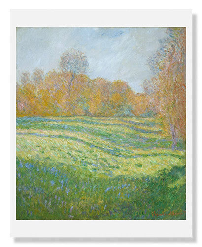 MFA Prints archival replica print of Claude Monet, Meadow at Giverny from the Museum of Fine Arts, Boston collection.