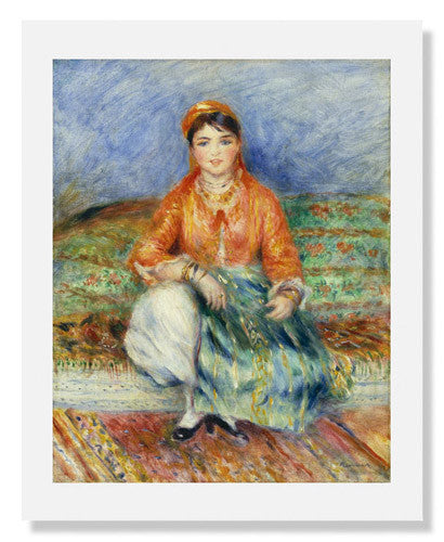 MFA Prints archival replica print of Pierre Auguste Renoir, Algerian Girl from the Museum of Fine Arts, Boston collection.