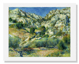 MFA Prints archival replica print of Pierre Auguste Renoir, Rocky Crags at L'Estaque from the Museum of Fine Arts, Boston collection.