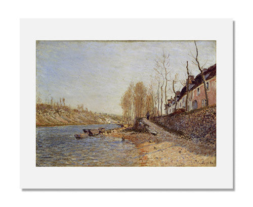 MFA Prints archival replica print of Alfred Sisley, La Croix Blanche at Saint Mammès from the Museum of Fine Arts, Boston collection.