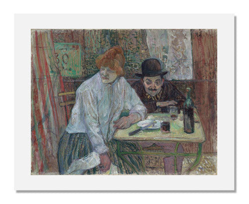 MFA Prints archival replica print of Henri de Toulouse Lautrec, At the Café La Mie from the Museum of Fine Arts, Boston collection.