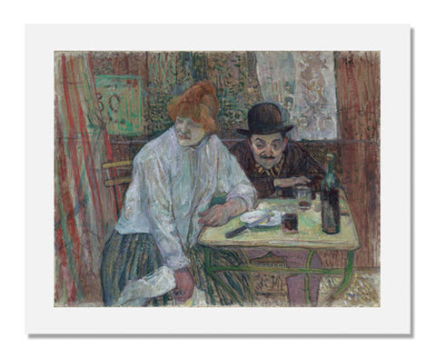 Henri de Toulouse Lautrec, At the Café La Mie