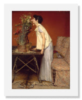 MFA Prints archival replica print of Sir Lawrence Alma Tadema, Woman and Flowers from the Museum of Fine Arts, Boston collection.