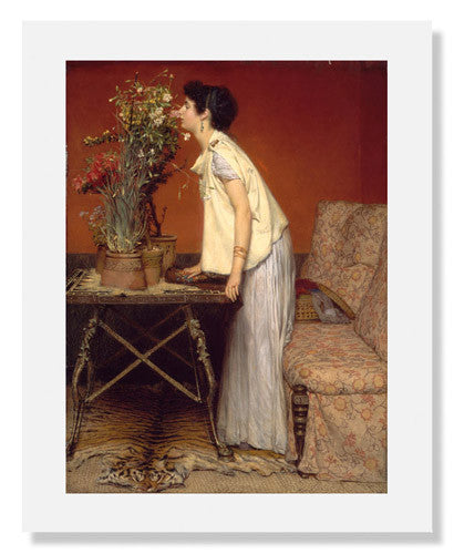 Sir Lawrence Alma Tadema, Woman and Flowers