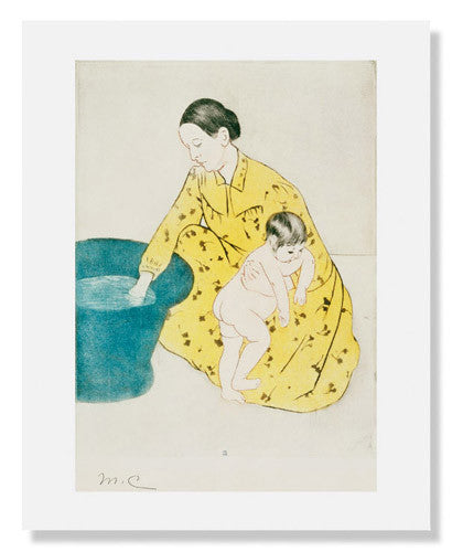 MFA Prints archival replica print of Mary Stevenson Cassatt, The Bath from the Museum of Fine Arts, Boston collection.
