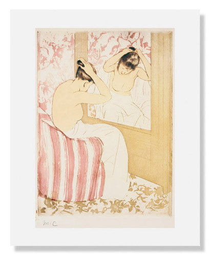 MFA Prints archival replica print of Mary Stevenson Cassatt, The Coiffure from the Museum of Fine Arts, Boston collection.
