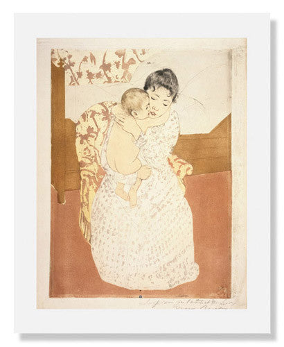MFA Prints archival replica print of Mary Stevenson Cassatt, Maternal Caress from the Museum of Fine Arts, Boston collection.