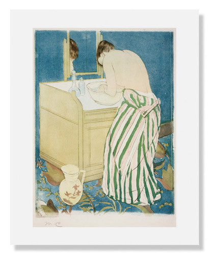 MFA Prints archival replica print of Mary Stevenson Cassatt, Woman Bathing from the Museum of Fine Arts, Boston collection.