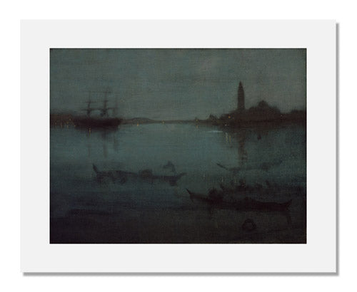 James Abbott McNeill Whistler, Nocturne in Blue and Silver: The Lagoon, Venice