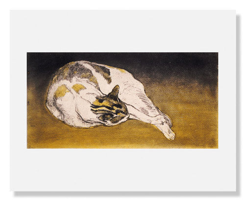 MFA Prints archival replica print of Théophile Alexandre Steinlen, Sleeping cat from the Museum of Fine Arts, Boston collection.
