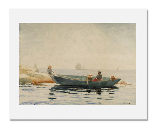 MFA Prints archival replica print of Winslow Homer, The Green Dory from the Museum of Fine Arts, Boston collection.