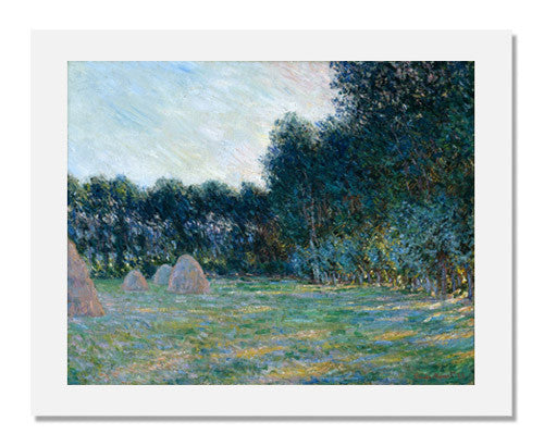 MFA Prints archival replica print of Claude Monet, Meadow with Haystacks near Giverny from the Museum of Fine Arts, Boston collection.