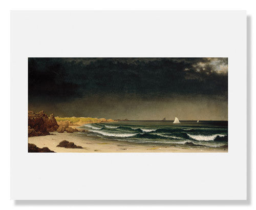 MFA Prints archival replica print of Martin Johnson Heade, Approaching Storm: Beach near Newport from the Museum of Fine Arts, Boston collection.