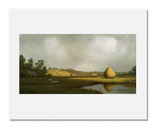 MFA Prints archival replica print of Martin Johnson Heade, Salt Marshes, Newburyport, Massachusetts from the Museum of Fine Arts, Boston collection.