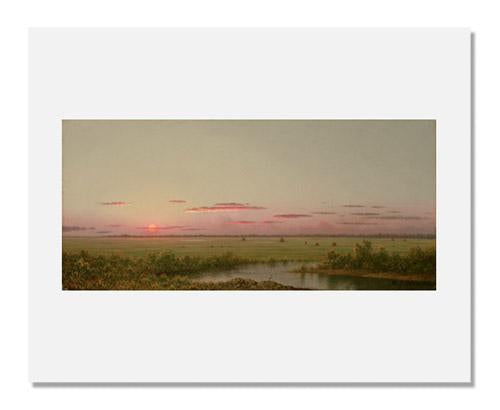 MFA Prints archival replica print of Martin Johnson Heade, Sunset on Long Beach from the Museum of Fine Arts, Boston collection.