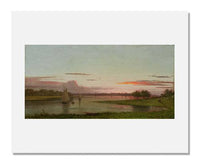 MFA Prints archival replica print of Martin Johnson Heade, Sunset, Black Rock, Connecticut from the Museum of Fine Arts, Boston collection.