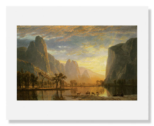 MFA Prints archival replica print of Albert Bierstadt, Valley of the Yosemite from the Museum of Fine Arts, Boston collection.