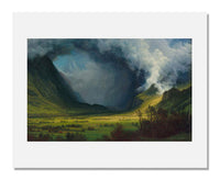 MFA Prints archival replica print of Albert Bierstadt, Storm in the Mountains from the Museum of Fine Arts, Boston collection.