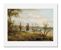 MFA Prints archival replica print of Thomas Birch , The Landing of William Penn from the Museum of Fine Arts, Boston collection.
