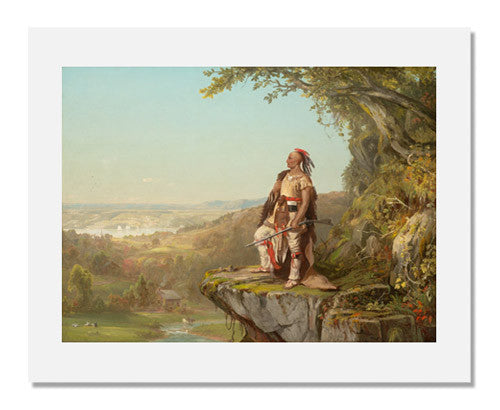 MFA Prints archival replica print of De Witt Clinton Boutelle, Indian Surveying a Landscape from the Museum of Fine Arts, Boston collection.