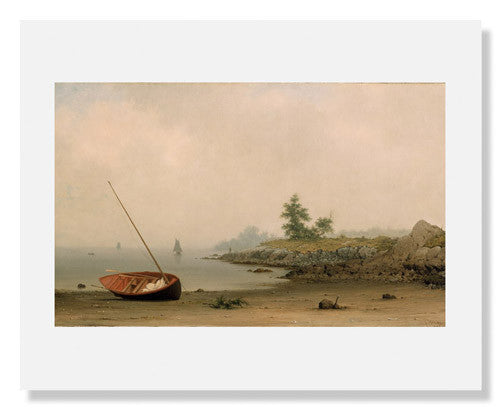 MFA Prints archival replica print of Martin Johnson Heade, The Stranded Boat from the Museum of Fine Arts, Boston collection.