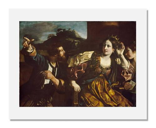MFA Prints archival replica print of Guercino (Giovanni Francesco Barbieri), Semiramis Receiving Word of the Revolt of Babylon from the Museum of Fine Arts, Boston collection.