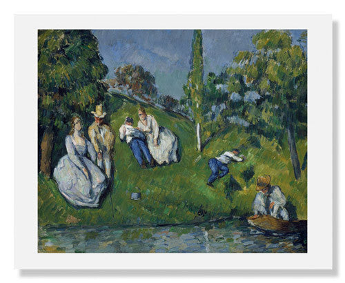 MFA Prints archival replica print of Paul Cézanne, The Pond from the Museum of Fine Arts, Boston collection.