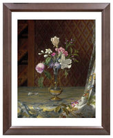 MFA Prints archival replica print of Martin Johnson Heade, Vase of Mixed Flowers from the Museum of Fine Arts, Boston collection.