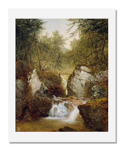 MFA Prints archival replica print of John Frederick Kensett, Bash-Bish Falls, Massachusetts from the Museum of Fine Arts, Boston collection.