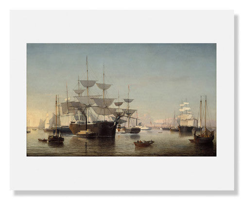 MFA Prints archival replica print of Fitz Henry Lane, New York Harbor from the Museum of Fine Arts, Boston collection.