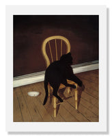 MFA Prints archival replica print of Andrew L. von Wittkamp, Black Cat on a Chair from the Museum of Fine Arts, Boston collection.