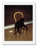 Andrew L. von Wittkamp, Black Cat on a Chair