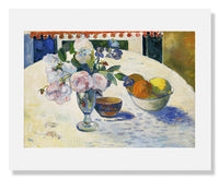 Paul Gauguin, Flowers and a Bowl of Fruit on a Table