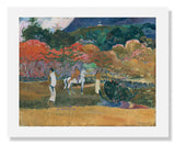 MFA Prints archival replica print of Paul Gauguin, Women and a White Horse from the Museum of Fine Arts, Boston collection.