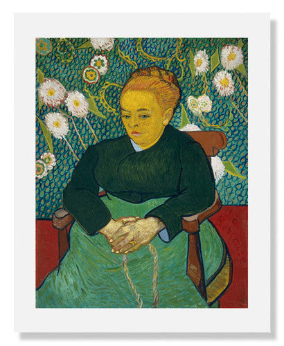 MFA Prints archival replica print of Vincent van Gogh, Lullaby: Madame Augustine Roulin Rocking a Cradle from the Museum of Fine Arts, Boston collection.
