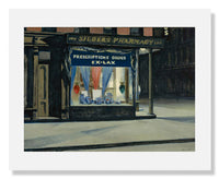 MFA Prints archival replica print of Edward Hopper, Drug Store from the Museum of Fine Arts, Boston collection.