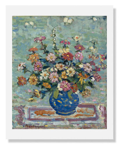 MFA Prints archival replica print of Maurice Brazil Prendergast, Flowers in a Blue Vase from the Museum of Fine Arts, Boston collection.