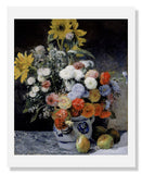 MFA Prints archival replica print of Pierre Auguste Renoir, Mixed Flowers in an Earthenware Pot from the Museum of Fine Arts, Boston collection.