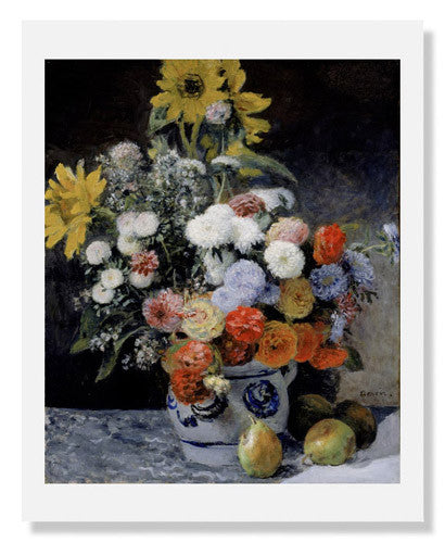 Pierre Auguste Renoir, Mixed Flowers in an Earthenware Pot