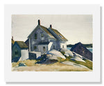 MFA Prints archival replica print of Edward Hopper, House at the Fort, Gloucester from the Museum of Fine Arts, Boston collection.