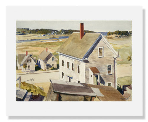 MFA Prints archival replica print of Edward Hopper, House by 'Squam River, Gloucester from the Museum of Fine Arts, Boston collection.