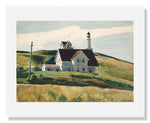 MFA Prints archival replica print of Edward Hopper, Hill and Houses, Cape Elizabeth, Maine from the Museum of Fine Arts, Boston collection.