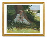 "MFA Prints archival replica print of Winslow Homer, ""Bo-Peep"" (Girl with Shepherd's Crook Seated by a Tree) from the Museum of Fine Arts, Boston collection."