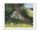 "Winslow Homer, ""Bo-Peep"" (Girl with Shepherd's Crook Seated by a Tree)"