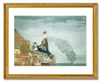 MFA Prints archival replica print of Winslow Homer, Fisherman's Family (The Lookout) from the Museum of Fine Arts, Boston collection.