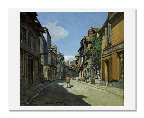 MFA Prints archival replica print of Claude Monet, Rue de la Bavole, Honfleur from the Museum of Fine Arts, Boston collection.
