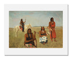 MFA Prints archival replica print of Albert Bierstadt, Indians near Fort Laramie from the Museum of Fine Arts, Boston collection.