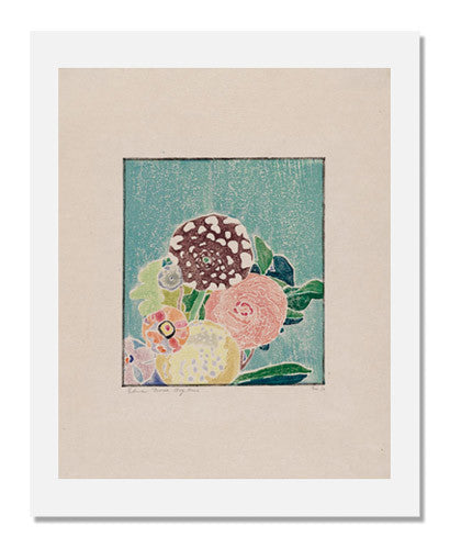 MFA Prints archival replica print of Edna Boies Hopkins, Spotted Dahlia from the Museum of Fine Arts, Boston collection.